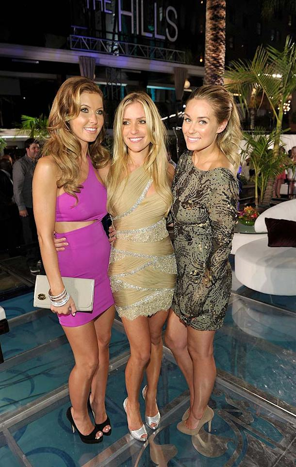"""The Hills"" leading ladies, Audrina Patridge, Kristin Cavallari, Lauren Conrad, and the rest of the show's cast reunited Tuesday for a party at the Roosevelt Hotel in Hollywood to watch the final episode. John Shearer/<a href=""http://www.gettyimages.com/"" target=""new"">GettyImages.com</a> - July 13, 2010"