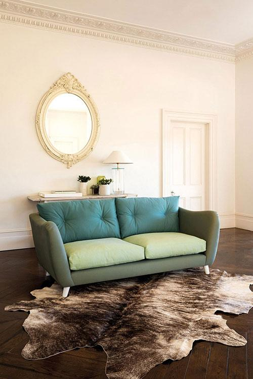 "<b>Swoon, sea-green sofa</b><br><br>Multi-toned sofas are very on-trend right now. While there are plenty of bright modular designs on the market, we're rather taken with this subtle sea-green gem. Understated yet strikingly unusual, it would be equally happy in a modern or traditional room scheme.<br><br> <b>from £1,192 - <a target=""_blank"" href=""http://www.sofasandstuff.com/products/swoon"">Sofa and Stuff</a><br></b>"