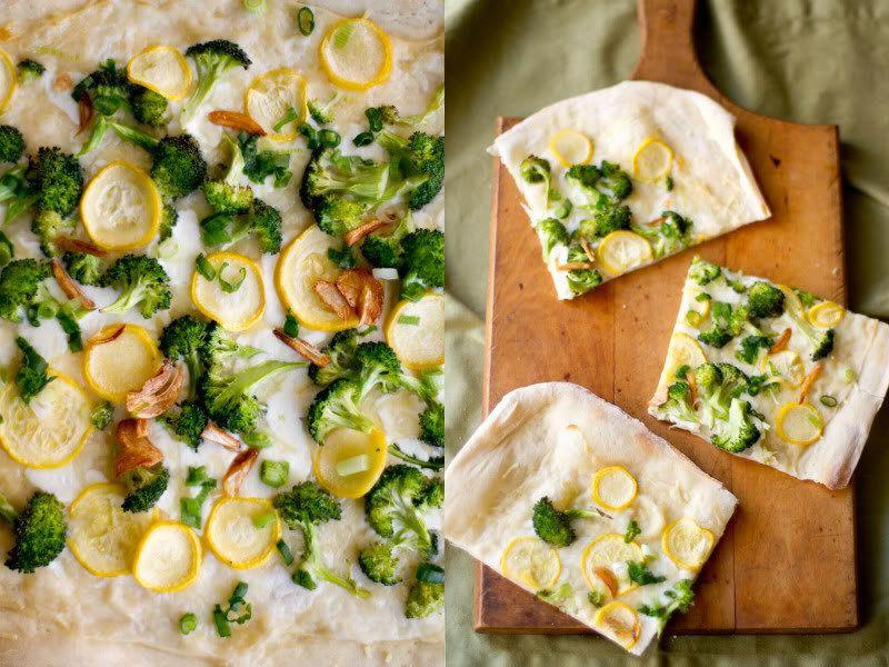 """<strong>Get the <a href=""""http://rikkisnyder.com/blog/13466605/broccoli"""">Garlicky Broccoli Flatbread recipe from Rikki Snyder Photography</a></strong>"""