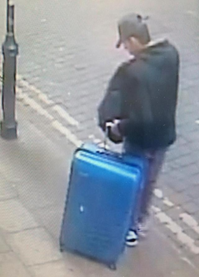 <p>CCTV image of Salman Abedi in an unknown location of the city center in Manchester, England on May 22, 2017. (Greater Manchester Police via AP) </p>