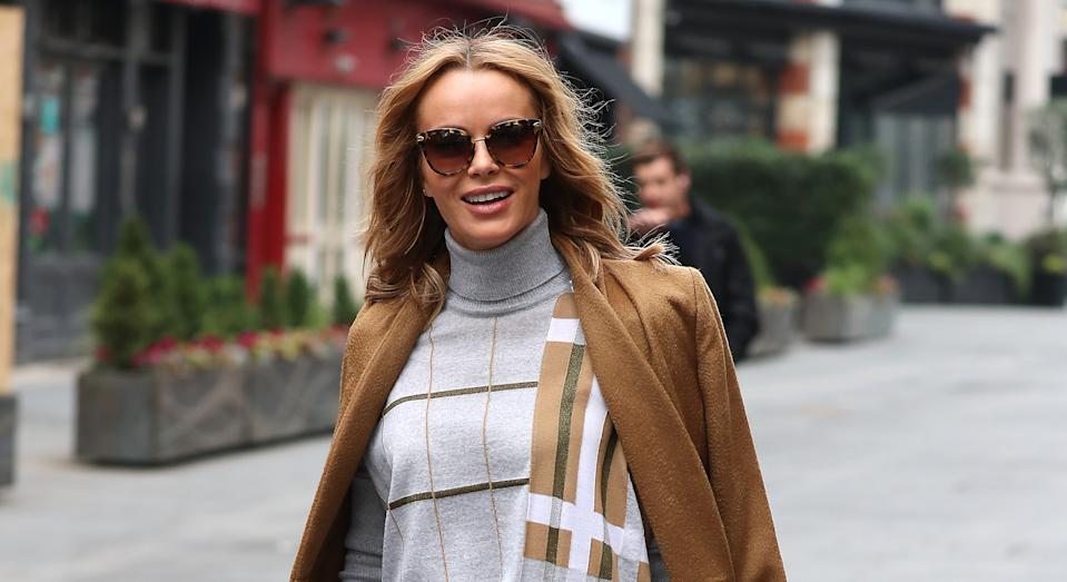 Amanda Holden has continued to film for work commitments in lockdown. (Getty Images)