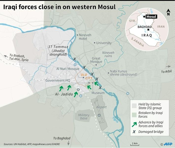 Iraqi forces close in on west Mosul