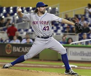 R.A. Dickey appears headed to Toronto. (Reuters)
