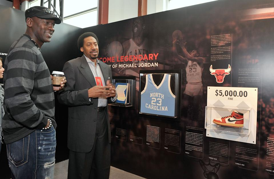 Michael Jordan attends a Jordan Brand exhibit in Dallas in February 2010. (Getty Images)