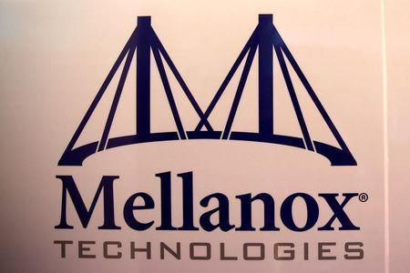 FILE PHOTO: The logo of Mellanox Technologies is seen at the company's headquarters in Yokneam, in northern Israel July 26, 2016. Picture taken July 26, 2016. REUTERS/Ronen Zvulun