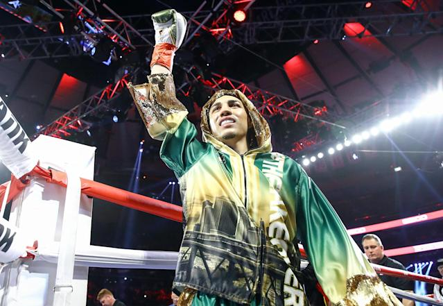 Unbeaten Teofimo Lopez (13-0, 11 KOs) will return to action on July 19 in Oxon Hill, Maryland, when he fights Masayoshi Nakatani. (Mikey Williams/Top Rank)