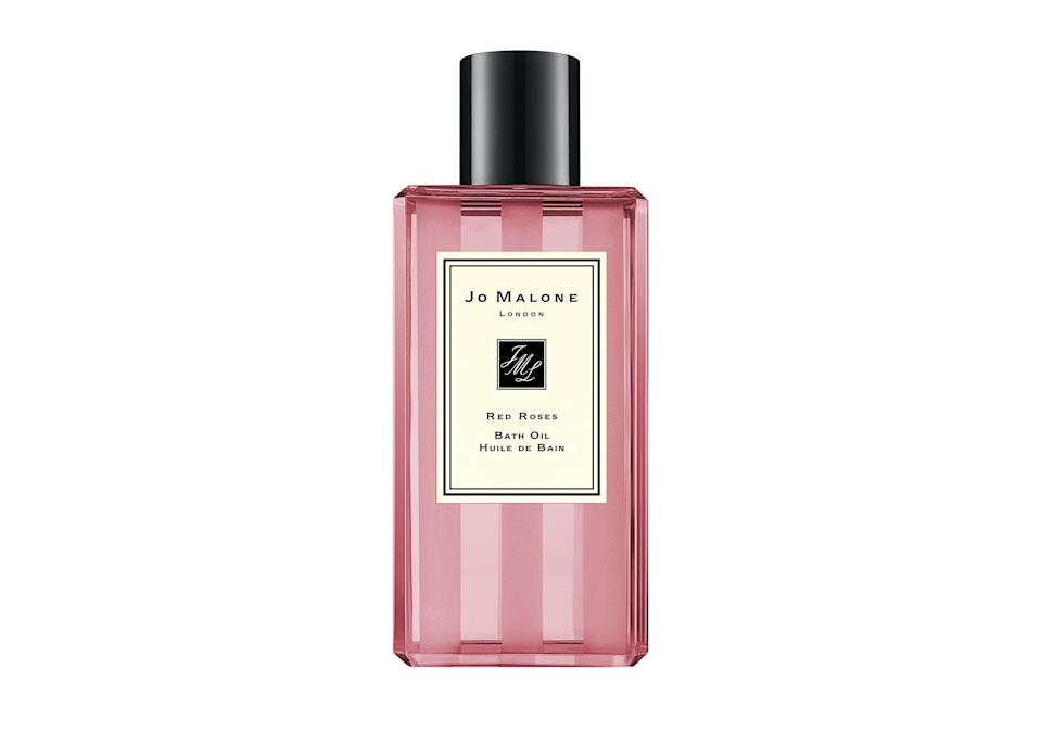 "<p>Red Roses bath oil, <a href=""https://www.jomalone.co.uk/product/3760/10014/bath-body/bath-oils/light-floral/red-roses-bath-oil"" rel=""nofollow noopener"" target=""_blank"" data-ylk=""slk:£18 at Jo Malone"" class=""link rapid-noclick-resp""><em>£18 at Jo Malone</em></a> </p>"