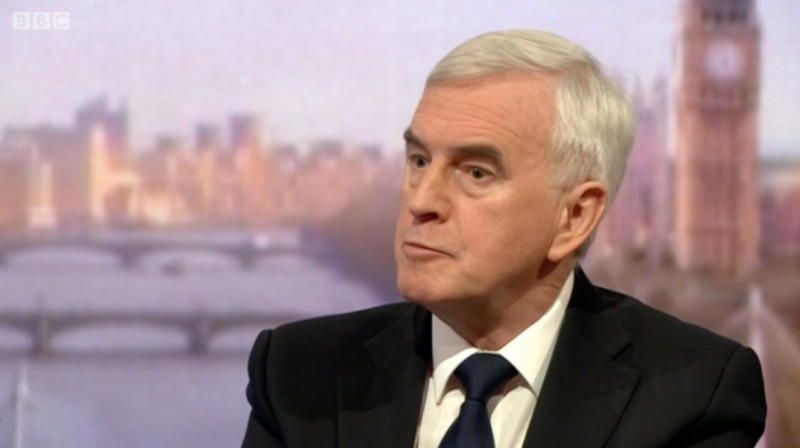 Labour's Shadow Chancellor again refused to apologise today for repeating calls for a Tory Cabinet Minister to by lynched.