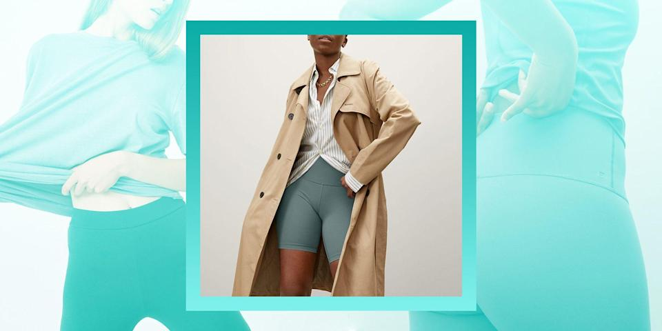 """<p>Bring on the sunny days and shorts weather! As spring and summer months get closer, you may be finding that <a href=""""https://www.bestproducts.com/fitness/clothing/g1195/best-leggings-for-women/"""" rel=""""nofollow noopener"""" target=""""_blank"""" data-ylk=""""slk:your usual leggings"""" class=""""link rapid-noclick-resp"""">your usual leggings</a> have you breaking out in a sweat even when you're not working out. You still want athleisure wear, but you need something that will accommodate the heat and give you ultimate comfort. So, let's talk biker shorts. They're versatile and great for all activities, from perusing the aisles of Trader Joe's to a low-key night of binge-watching Netflix. They might give off sporty vibes, but there are endless styling options depending on what you're looking for. </p><p>Most are made with a combination fabric blend (elastane, spandex, nylon) so you'll get functionality plus stretch. This can be an advantage if you find yourself going from a morning workout to running other errands throughout the day. <a href=""""https://sourcingjournal.com/topics/lifestyle-monitor/coronavirus-athleisure-bcg-klaviyo-american-eagle-offline-aerie-npd-226232/"""" rel=""""nofollow noopener"""" target=""""_blank"""" data-ylk=""""slk:Athleisure wear isn't going anywhere"""" class=""""link rapid-noclick-resp"""">Athleisure wear isn't going anywhere</a> for awhile, and with biker shorts you can keep up with current trends while maintaining comfort and multipurpose use. </p><p>The time has come to prime your wardrobe for days spent outdoors, and biker shorts are a great staple to add to your rotation. Since the style has grown in popularity over the years, it may be more of a challenge to find the perfect pair in a sea of options. No need to worry! We've researched top-rated picks and pulled from our own closets to give you the the best biker shorts of 2021.</p>"""