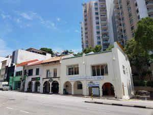 three adjoining freehold shophouses