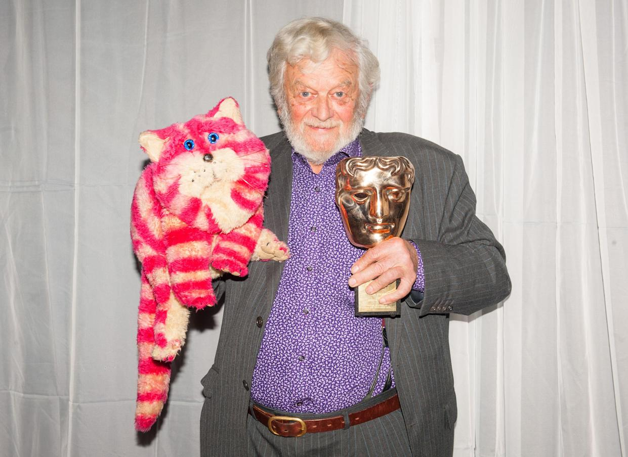 Winner of the Special Award Peter Firmin in the press room at the British Academy Children's Awards, at the Roundhouse, Camden, north London.