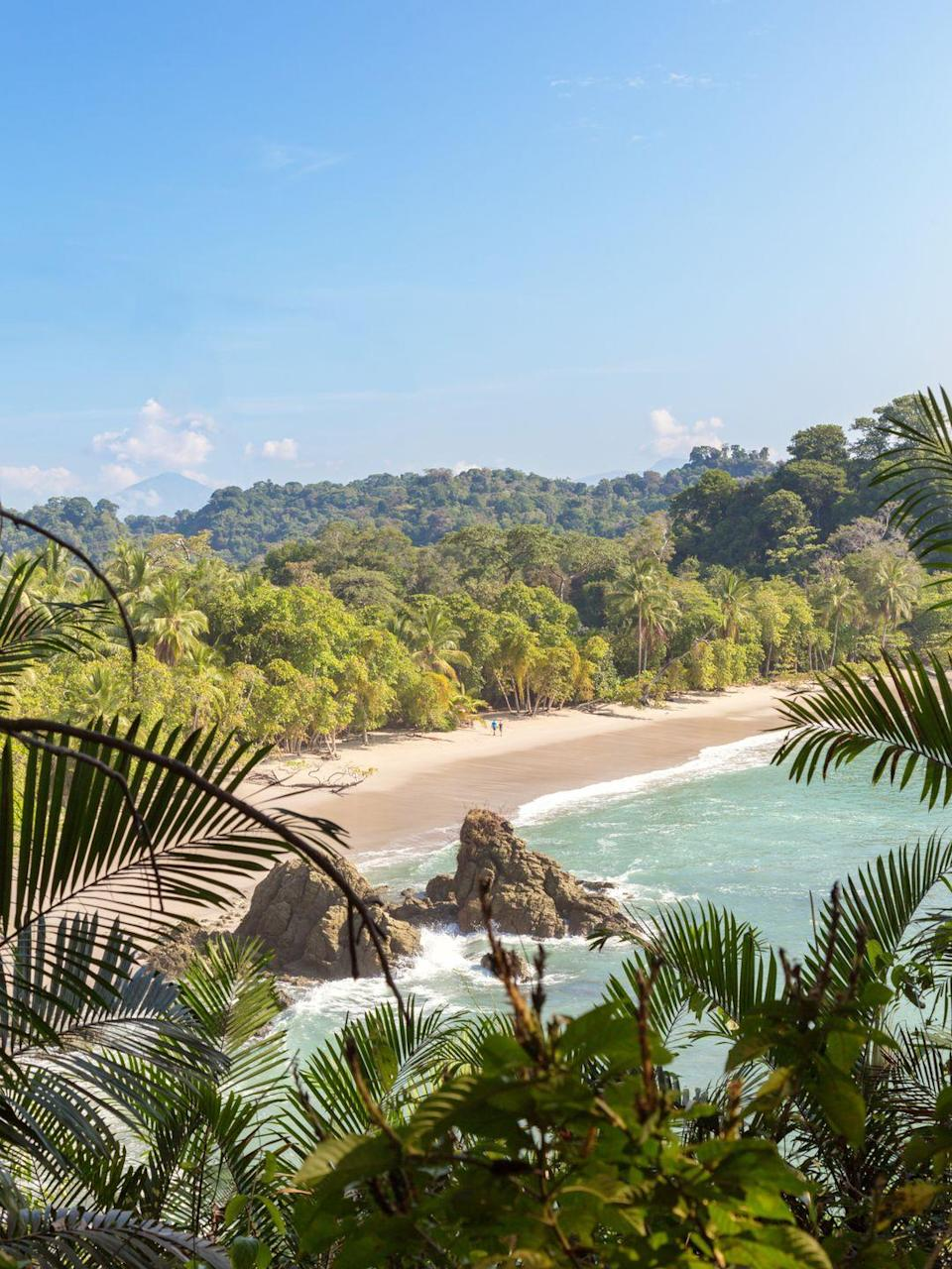 <p>Costa Rica has over 750 miles of shoreline, but Playa Manuel Antonio on the Pacific coast is one of the most popular.</p>