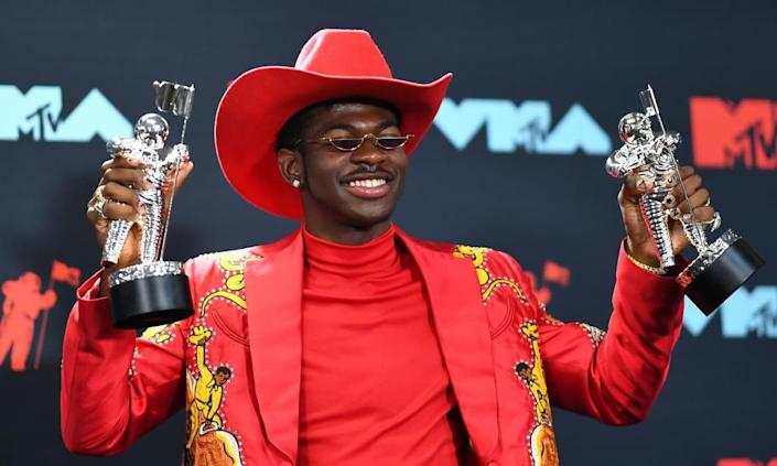 Lil Nas X took home two moonmen, for the Old Town Road Remix with Billy Ray Cyrus