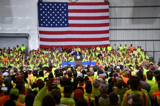 US President Donald Trump tells workers building a new Shell petrochemical facility that America is now the world's top energy producer