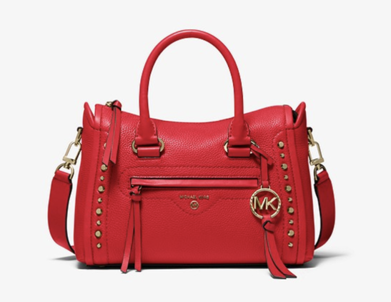 Carine Small Studded Pebbled Leather Satchel. (PHOTO: Michael Kors)