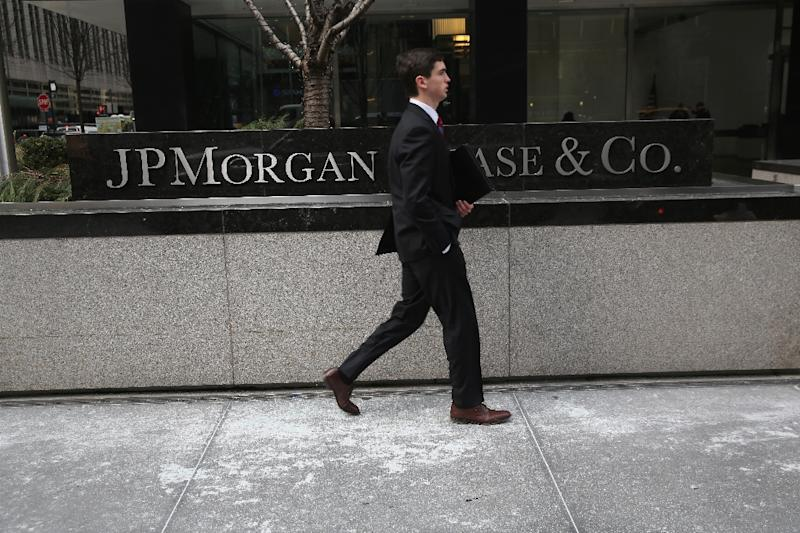 JPMorgan Chase, the biggest US bank by assets, cited Greece as a key factor in a 10 percent decline in bond, foreign exchange and currency trading (AFP Photo/John Moore)
