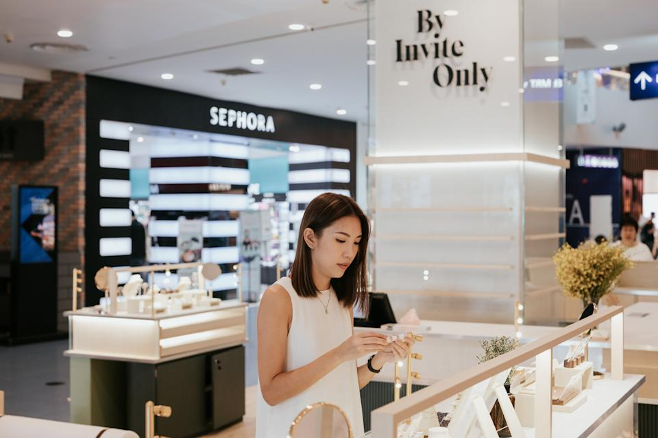 Trixie at By Invite Only Vivo mall counter. (PHOTO: By Invite Only)