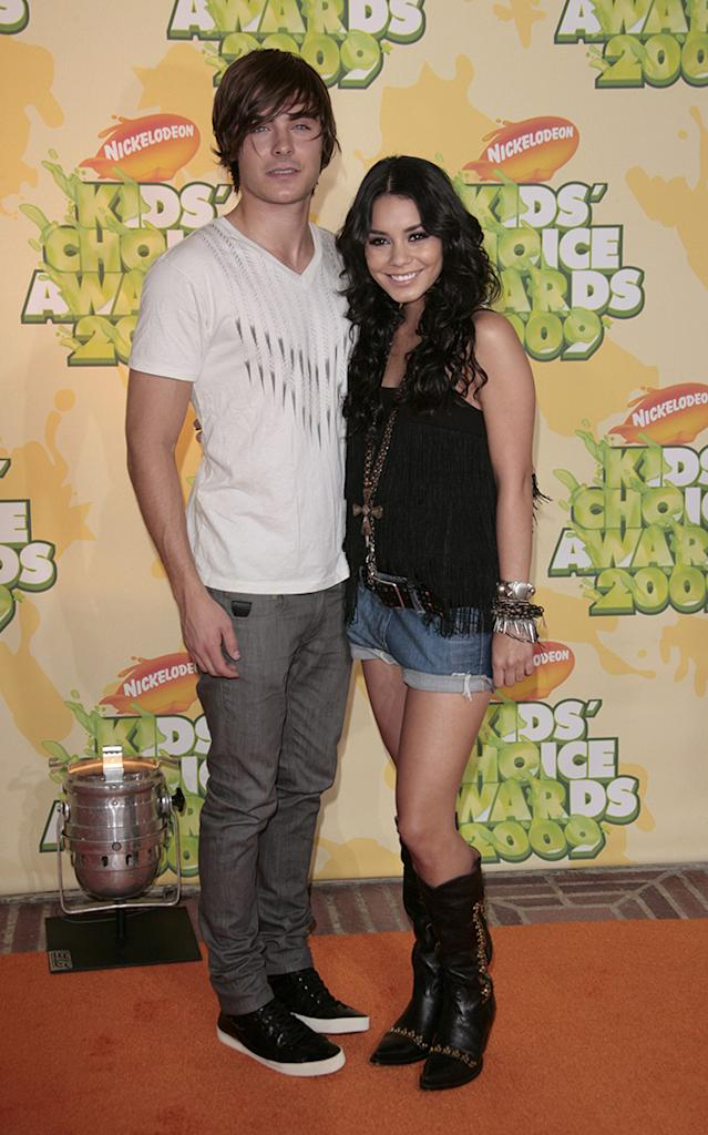 "Zac Efron and Vanessa HudgensNickelodeon's 2009 Kids' Choice Awards at the UCLA Pauley Pavillion, Los Angeles, America - 28 Mar 2009High School Musical 3: Senior Year"" has received top marks at the Kids' Choice Awards. The Disney musical was selected as the favourite movie by audience votes at Nickelodeon's 22nd annual event. ""High School Musical"" star Vanessa Hudgens was also selected as the favourite movie actress. However, it was the slime not the awards that was the most popular part of the evening. The show was kicked off by host Dwayne 'The Rock' Johnson zip-lining into a ""slime temple"" and spraying goo over the audience. Over 90 million viewer votes were cast on Nickelodeon's website for this year's awards."
