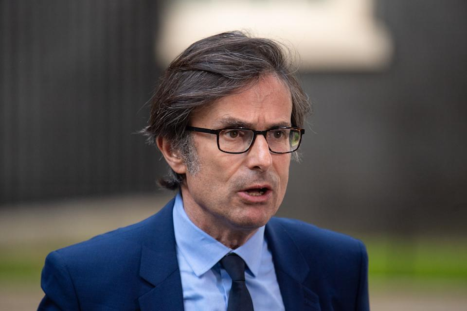 ITV News political editor Robert Peston in Downing Street. (Photo: Dominic Lipinski - PA Images via Getty Images)