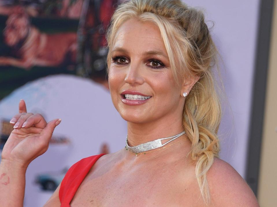 Britney Spears's conservatorship has been widely discussed since a documentary came out about the singer. (AFP via Getty Images)