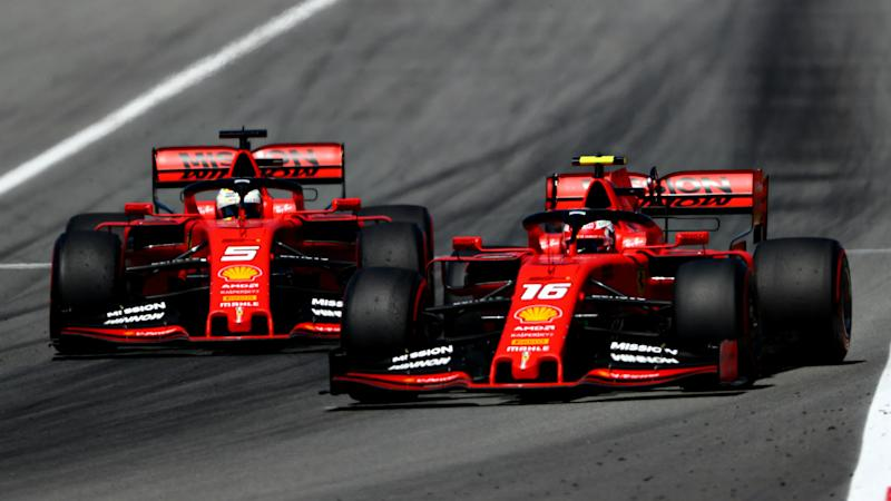 Vettel 'compromised' on opening lap amid Ferrari confusion