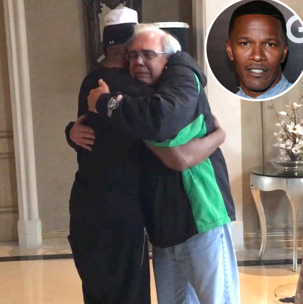 "<p>In a scene like the ones in his movies, like <i>Collateral </i>and <i>Miami Vice</i>, Jamie Foxx pulled a man whose car had crashed in front of Foxx's home in Moorpark, Calif., to safety in January. The driver, 32-year-old Brett Kyle, was later arrested and accused of driving under the influence of alcohol. ""As we pull him out, within five seconds later, the truck goes up [in flames],"" Foxx <a href=""http://www.cnn.com/2016/01/19/entertainment/jamie-foxx-rescue-man-burning-truck-feat/"">told</a> reporters. ""I don't look at it as heroic. I just look at it as, you know, you just had to do something. And it all worked out."" The following day, the actor shared <a href=""https://www.instagram.com/p/BAvxBA7qE9i/?taken-by=iamjamiefoxx"">a touching photo</a> of himself embracing the victim's father. ""God had his arms wrapped around all of us,"" Foxx captioned it. ""No heroes … Just happy fathers."" <i>(Photo: Instagram/Getty Images)</i></p>"
