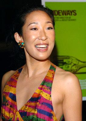 "Premiere: <a href=""/movie/contributor/1800022923"">Sandra Oh</a> at the Beverly Hills premiere of Fox Searchlight's <a href=""/movie/1808585439/info"">Sideways</a> - 10/12/2004<br>Photo: <a href=""http://www.wireimage.com/"">Lester Cohen, WireImage.com</a>"