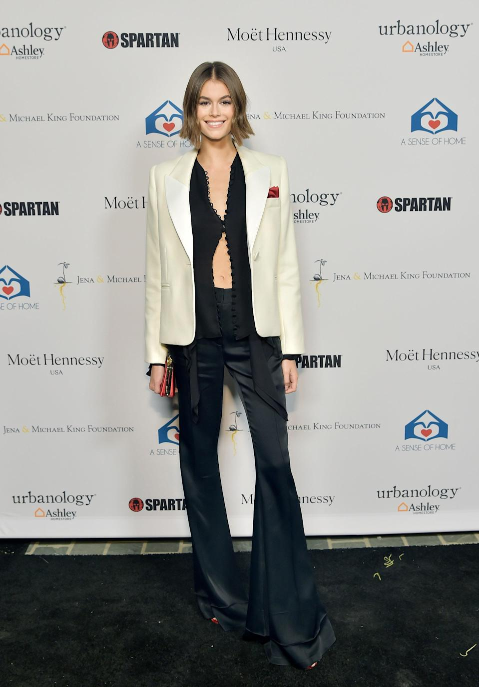 This was her take on B&W dressing for A Sense Of Home's first-ever annual gala.