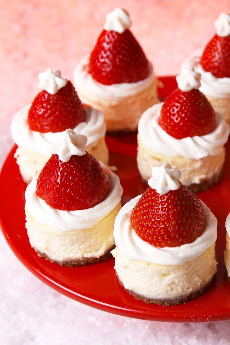"""<p>Santa Clause is coming to town...with cheesecake.</p><p>Get the recipe from <a href=""""https://www.delish.com/holiday-recipes/christmas/a25563327/santa-hat-cheesecake-bites-recipe/"""" rel=""""nofollow noopener"""" target=""""_blank"""" data-ylk=""""slk:Delish"""" class=""""link rapid-noclick-resp"""">Delish</a>.</p>"""