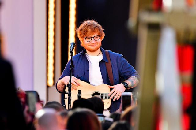 <p>Sheeran was nominated in this category three years ago with his sophomore album, <i>x</i>. With <i>÷</i>, he'll become the fifth solo Englishman to receive Album of the Year noms for back-to-back studio albums. He'll follow Elton John, Sting, Phil Collins, and Steve Winwood.<br>(Photo: James Devaney/Getty Images) </p>