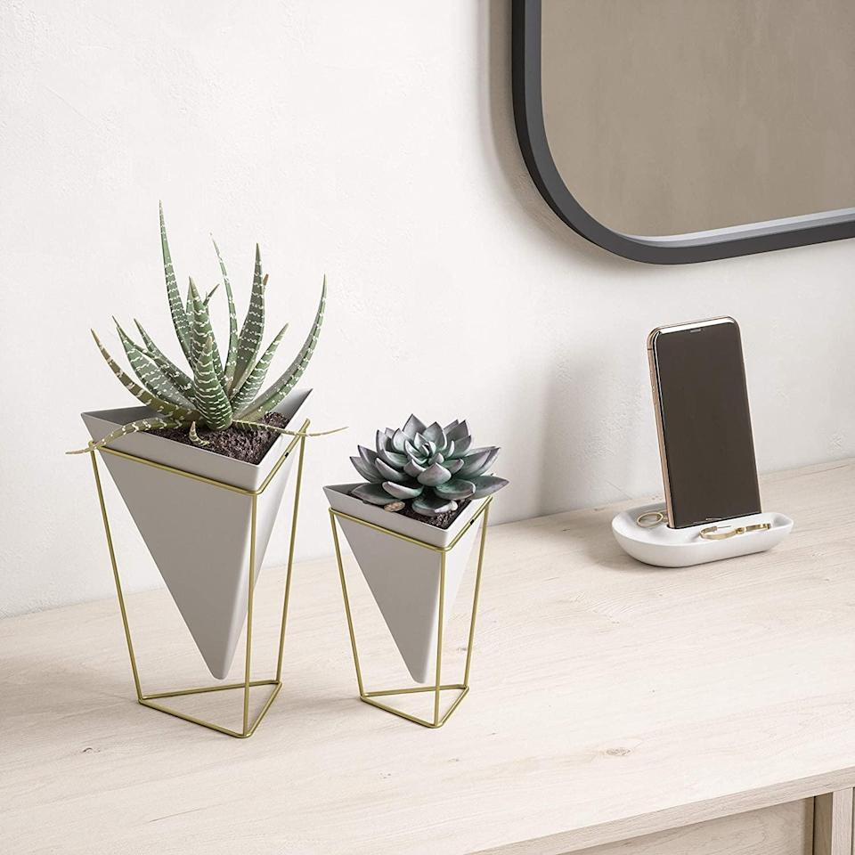 <p>The <span>Umbra Trigg Geometric Planter</span> ($19, originally $35 for two) is perfect for your desk or as a statement wall piece. The geometric design is a great way to add a contemporary touch to your decor. </p>