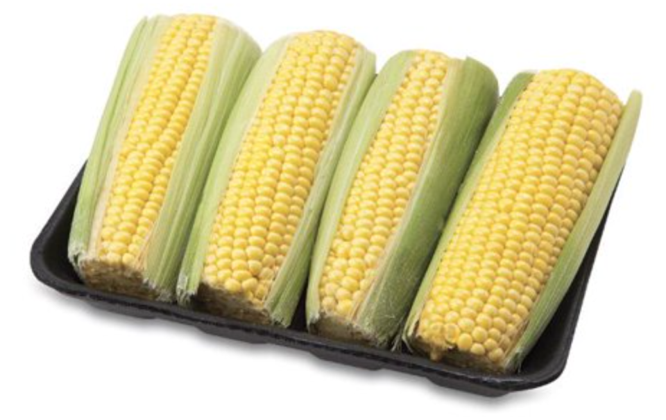 Wrap these pre-prepped ears of corn in foil and toss them on the grill for the easiest side dish. (Credit: Walmart)