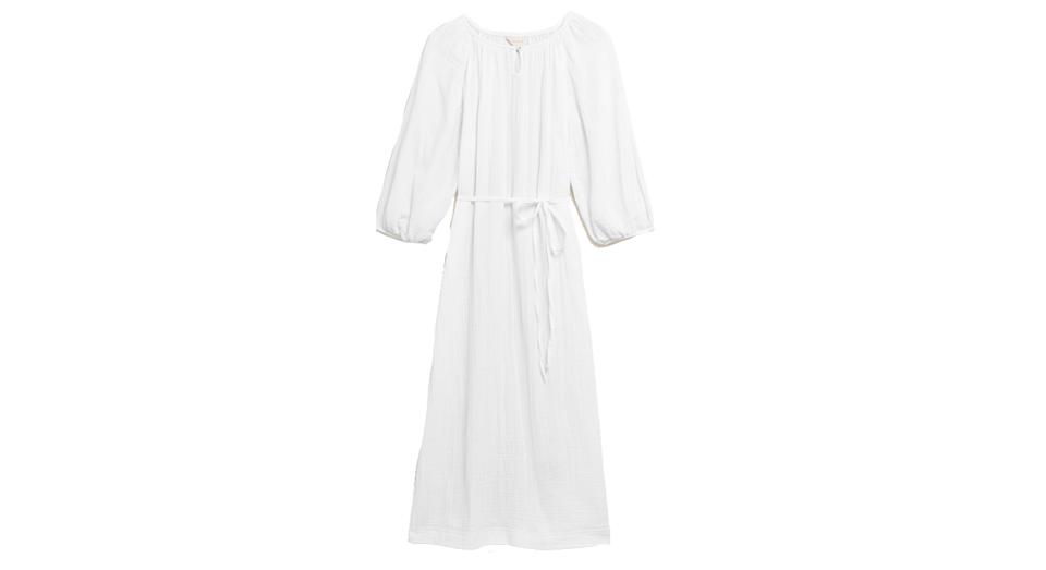 Pure Cotton Muslin Long Nightdress