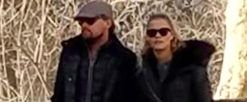 Leonardo DiCaprio and Nina Agdal Hold Hands During a Casual Stroll in NYC