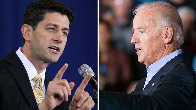 High stakes for Biden, Ryan in VP debate