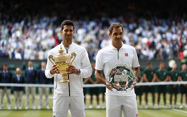 Novak Djokovic and Roger Federer contested an epic men's singles final in 2019 - EPA