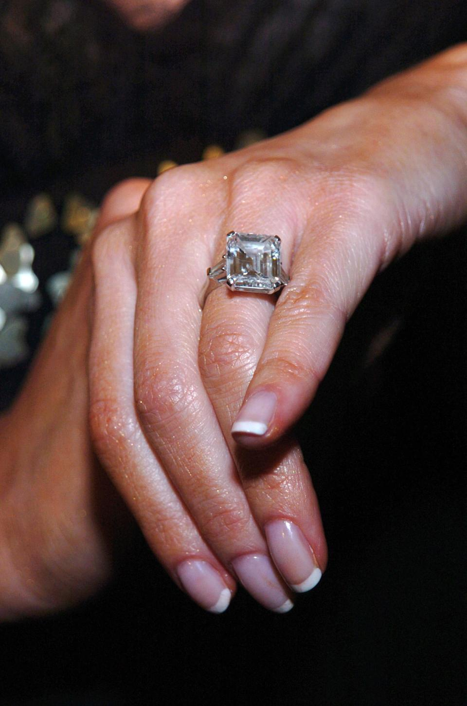 <p>Naturally, Donald Trump spent a hell of a lot of money on his now-wife, cashing out £2.3 million for Melania's 12-carat ring. <i>[Photo: Getty]</i> </p>