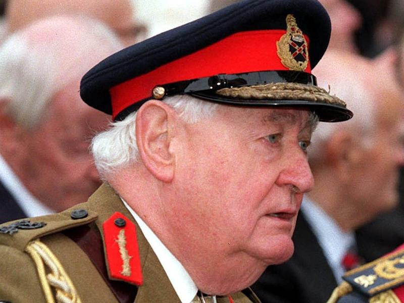 Former head of the British Army Field Marshal Lord Bramall, pictured in September 2000, died at the age of 95 on 12 November, 2019: Tony Harris/PA