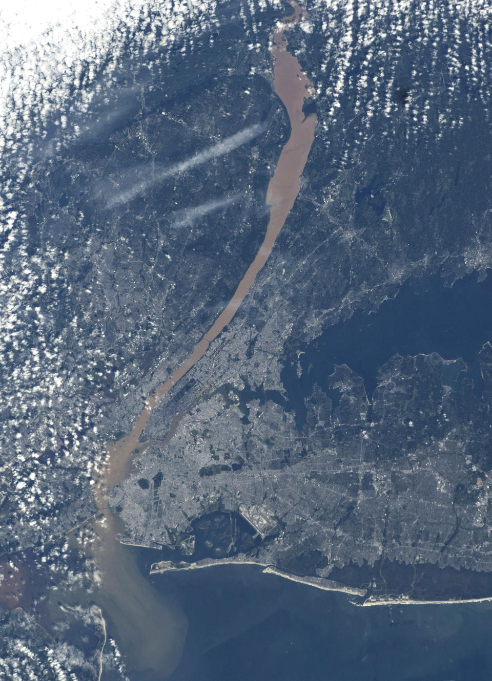 An aerial image of New York City captured by one of the Expedition 28 crew members. Photo credit: Nasa