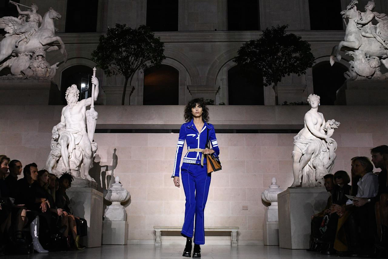 <p>Louis Vuitton showed its fall 2017 collection during Paris Fashion Week on March 7, 2017 in Paris, France inside the Louvre for the first time ever.</p>