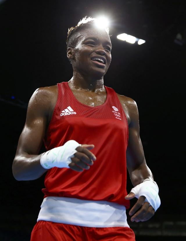 2016 Rio Olympics - Boxing - Final - Women's Fly (51kg) Final Bout 267 - Riocentro - Pavilion 6 - Rio de Janeiro, Brazil - 20/08/2016. Nicola Adams (GBR) of Britain reacts after winning her bout. REUTERS/Peter Cziborra FOR EDITORIAL USE ONLY. NOT FOR SALE FOR MARKETING OR ADVERTISING CAMPAIGNS.