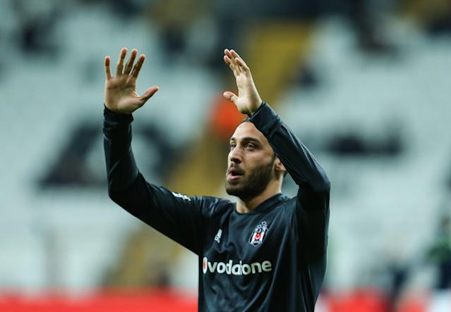 Cenk Tosun has already bid farewell to Besiktas fans. (Getty)