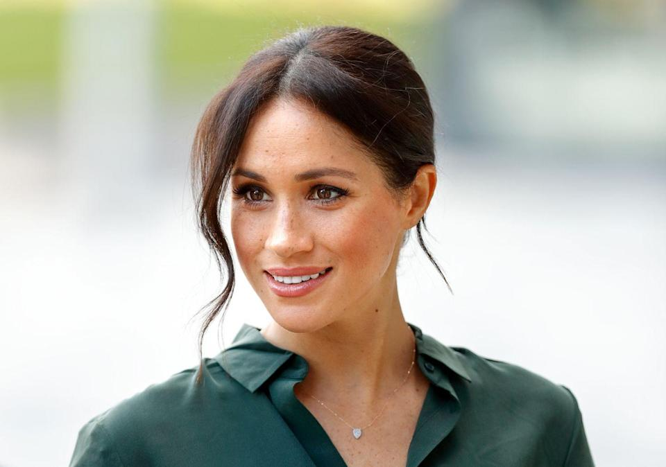 """<p>""""I spray hairspray on a small boar bristle toothbrush (a regular toothbrush also works great!) to lightly brush them down or smooth the hairline—this is especially good for a sleek bun when I'm off-camera,"""" Meghan told <a href=""""https://www.birchbox.com/magazine/article/meghan-markle-suits-beauty-secrets??utm_source=linkshare&utm_medium=affiliate&utm_campaign=tv2R4u9rImY&ranMID=38138&ranEAID=tv2R4u9rImY&ranSiteID=tv2R4u9rImY-NOnCZThf5lra7STz1_jZ8w"""" rel=""""nofollow noopener"""" target=""""_blank"""" data-ylk=""""slk:Birchbox in 2014"""" class=""""link rapid-noclick-resp"""">Birchbox in 2014</a>. GENIUS.</p>"""