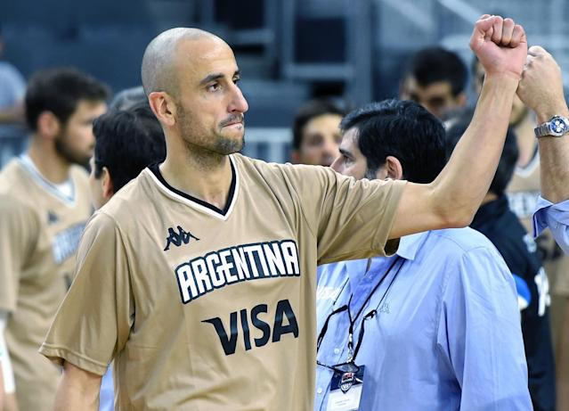"""The 2016 Rio Olympics could be <a class=""""link rapid-noclick-resp"""" href=""""/nba/players/3380/"""" data-ylk=""""slk:Manu Ginobili"""">Manu Ginobili</a>'s final games with Argentina. (Getty)"""