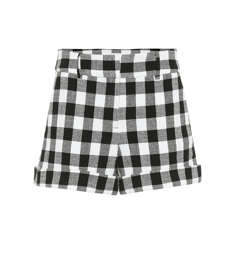 "<br><br><strong>Veronica Beard</strong> Carito Checked Cotton Shorts, $, available at <a href=""https://go.skimresources.com/?id=30283X879131&url=https%3A%2F%2Fwww.mytheresa.com%2Fen-us%2Fveronica-beard-carito-checked-cotton-shorts-1211430.html"" rel=""nofollow noopener"" target=""_blank"" data-ylk=""slk:mytheresa"" class=""link rapid-noclick-resp"">mytheresa</a>"