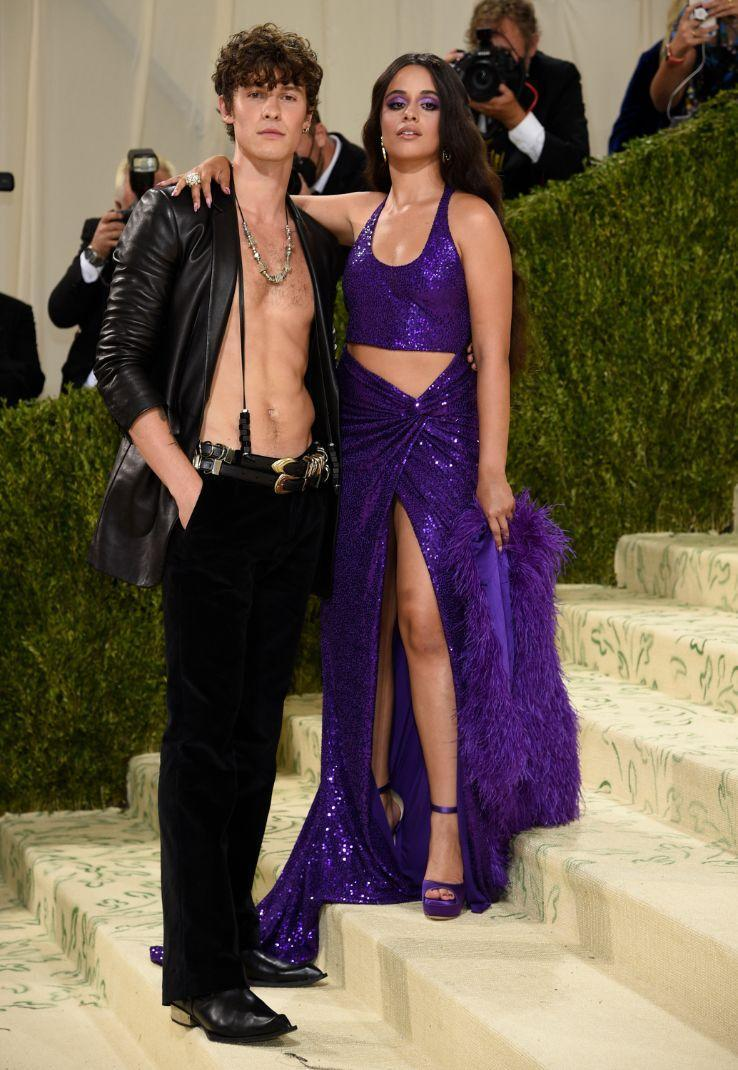 """Shawn Mendes and Camila Cabello attend The Metropolitan Museum of Art's Costume Institute benefit gala celebrating the opening of the """"In America: A Lexicon of Fashion"""" exhibition on Monday, Sept. 13, 2021, in New York. - Credit: AP"""