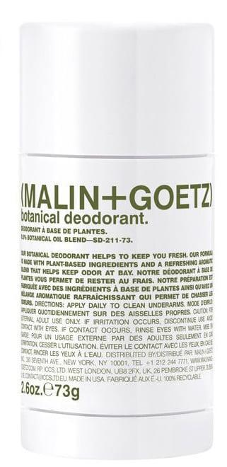 <p>Partners and cofounders Matthew Malin and Andrew Goetz created Malin + Goetz in 2004. Now, the brand carries a variety of skin and body products, including the <span>Botanical Deodorant</span> ($22), a natural formula infused with coconut oil and plant extracts.</p>