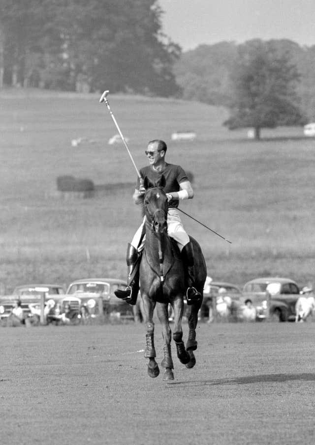 Philip playing polo