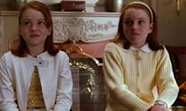 Lindsay Lohan played long-lost twins Hallie Parker and Annie James trying to get their mum and dad back together in the 1998 remake of The Parent Trap. Iconic.