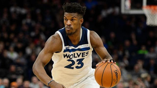 Jimmy Butler is the latest talent going West to East. (AP)